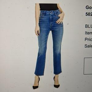 Good American Good Curve high waist ankle jeans